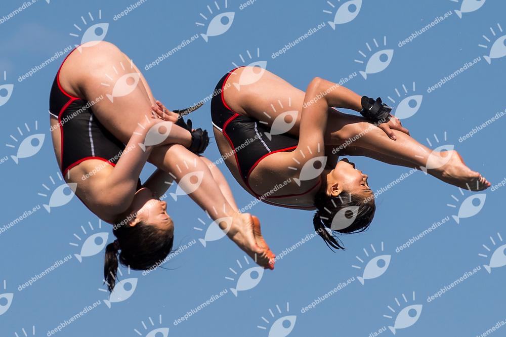 ENOMOTO Haruka KANETO Hana JPN bronze medal<br /> Women's 10m synchronised platform final<br /> 23rd FINA Diving Grand Prix 2017 Trofeo UnipolSai<br /> Bolzano ITA<br /> July 05 - 07, 2017<br /> Day03 07-07-2017<br /> Photo Giorgio Perottino/Deepbluemedia/Insidefoto