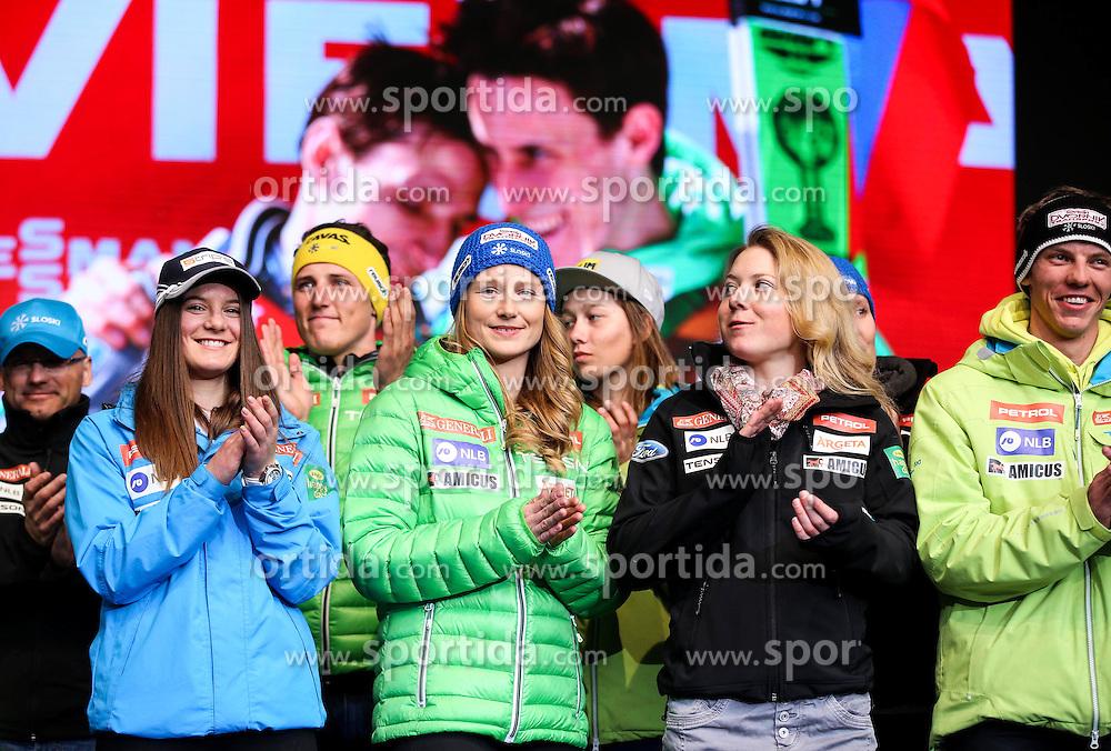 Sasa Brezovnik, Ana Drev during reception of Slovenian Winter athletes after the end of season 2015/16, on March 22, 2016 in Kongresni trg, Ljubljana, Slovenia. Photo by Matic Klansek Velej / Sportida