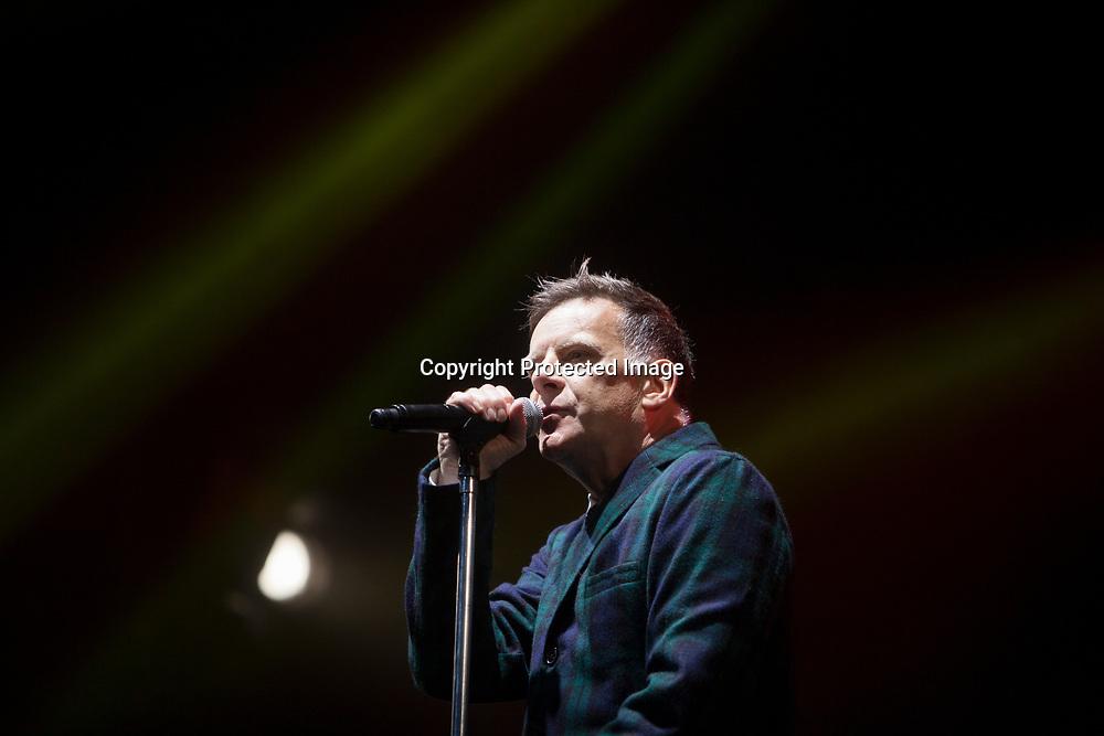 Edinburgh, Scotland 22nd July. Deacon Blue performs on stage in Edinburgh Castle esplanade. Edinburgh. Pako Mera