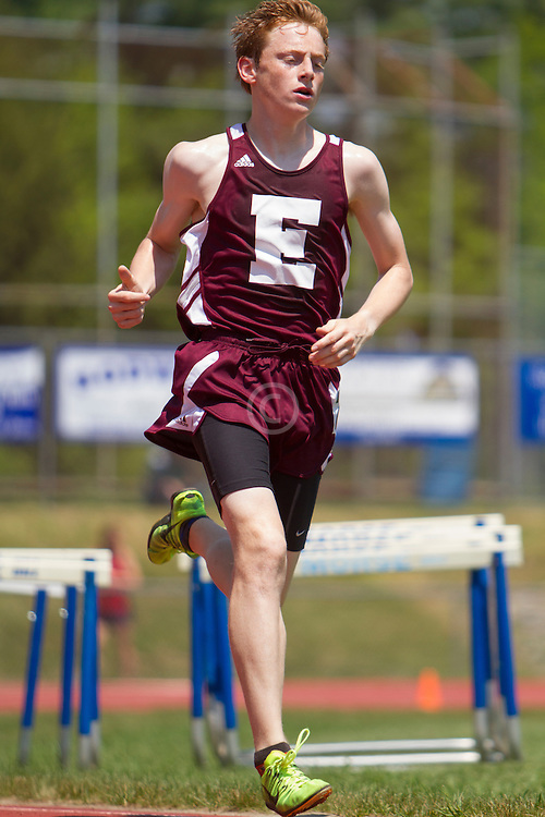 Dan Curts, Ellsworth, boys 1600 meters, new state record 4:14; Maine State Track & Field Meet - Class B