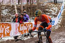 Thijs van Amerongen (NED), Men Elite, Cyclo-cross World Championship Tabor, Czech Republic, 1 February 2015, Photo by Pim Nijland / PelotonPhotos.com