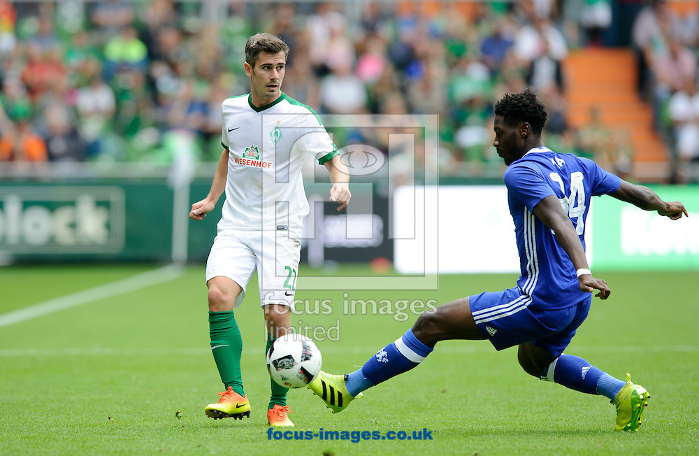 Fin Bartels of SV Werder Bremen and Ola<br /> Aina of Chelsea during the pre season friendly match at Weserstadion, Bremen, Germany.<br /> Picture by EXPA Pictures/Focus Images Ltd 07814482222<br /> 07/08/2016<br /> *** UK &amp; IRELAND ONLY ***<br /> EXPA-EIB-160807-0294.jpg