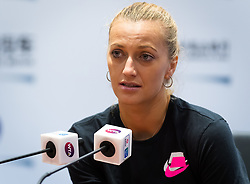 September 23, 2018 - Petra Kvitova of the Czech Republic talks to the media during All Access Hour at the 2018 Dongfeng Motor Wuhan Open WTA Premier 5 tennis tournament (Credit Image: © AFP7 via ZUMA Wire)