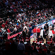 January 9, 2018, New York, NY : St. John's fans crowd Madison Square Garden during Tuesday night's matchup between the Hoyas and Red Storm. In something of a rematch of their 1985 contest, Basketball greats Patrick Ewing and Chris Mullin returned to Madison Square Garden on Tuesday night to face off as coaches with their respective Georgetown and St. John's teams.  CREDIT: Karsten Moran for The New York Times