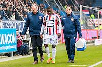 TILBURG - 19-02-2017, Willem II - AZ, Koning Willem II Stadion, blessure Willem II speler Derrick Tshimanga