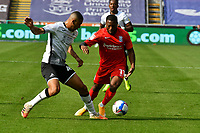 Football - 2020 /2021 EFL Championship - Swansea City vs Birmingham City <br />      <br /> Jeremie Bela of Birmingham on the attack challenged by Ben Cabango of Swansea City<br /> in a match played without fans at the Liberty Stadium<br /> <br /> COLORSPORT/WINSTON BYNORTH