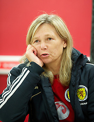 LLANELLI, WALES - Saturday, September 15, 2012: Scotland's manager Anna Signel after the 2-1 victory over Wales during the UEFA Women's Euro 2013 Qualifying Group 4 match at Parc y Scarlets. (Pic by David Rawcliffe/Propaganda)