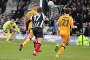 Grimsby Town forward Harry Cardwell (17) attacking  during the EFL Sky Bet League 2 match between Grimsby Town FC and Port Vale at Blundell Park, Grimsby, United Kingdom on 10 March 2018. Picture by Mick Atkins.