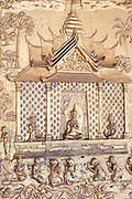 Architectural detail, Wat May Souvannapoumaram, Luang Prabang, Laos.