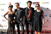 Guests arrive on the red carpet at the Vodafone Music Awards at Vector Arena in Auckland on Thursday 21 November 2013. Photo: Andrew Cornaga/www.Photosport.co.nz