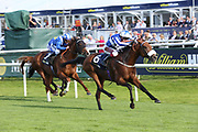 FOX TAL (6) ridden by Oisin Murphy and trained by Andrew Balding winning The William Hill Leading Racecourse Bookmaker Conditions Stakes over 1m 2f (£20,000)   during the opening day of the St Leger Festival at Doncaster Racecourse, Doncaster, United Kingdom on 11 September 2019.