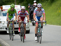 04.07.2013, Niederösterreich, AUT, 65. Oesterreich Rundfahrt, 5. Etappe, St.Johann / Alpendorf - Sonntagberg im Bild die Spitzengruppe mit #17 Mikhail Ignatyev, RUS, Team Katusha, #56 Maciej Paterski, POL, Cannondale Pro Cycling, #121 Omar Bertazzo, ITA, Androni Giocattoli Venezuela // during the 65th Tour of Austria, Stage 5, from St. Johann / Alpendorf to Sonntagberg, Lower Austria, Austria on 2013/07/04. EXPA Pictures © 2013, PhotoCredit: EXPA/ R. Eisenbauer