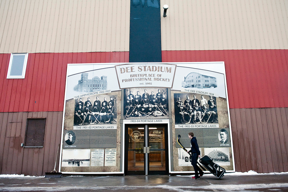 HOUGHTON, MI -DEC. 13, 2014: Dee Stadium, the birthplace of professional hockey, Saturday, Dec. 13, 2014. Lauren Justice for The New York Times