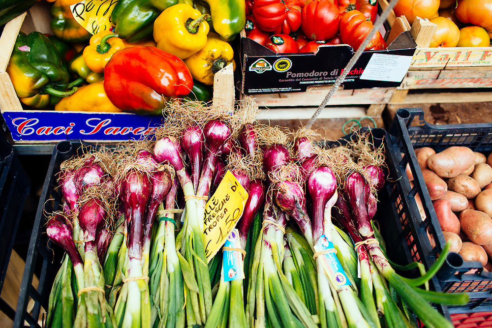 Fresh vegetables at market in Rome, Italy