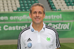 12.07.2011, Volkswagen Arena, Wolfsburg, GER, 1.FBL,  VfL Wolfsburg, Spielervorstellung im Bild  Pierre Littbarski Co-Trainer beim VfL Wolfsburg in der Saison 2011/2012 // during the player praesentation in Wolfsburg 2011/07/12.     EXPA Pictures © 2011, PhotoCredit: EXPA/ nph/  Rust       ****** out of GER / CRO  / BEL ******