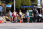 Japan's Yoshimi Ozaki (number 13) came second in the Nagoya Women's Marathon, boosting her chance of qualifying in the London 2012 Olympics. Yukiko Akaba (#14), Remi Nakazato (#16), and Mai Ito (#19) also pictured.