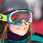 Ursina Haller, Switzerland, during the Women's Half Pipe Qualification in the LG Snowboard FIS World Cup, during the Winter Games at Cardrona, Wanaka, New Zealand, 27th August 2011. Photo Tim Clayton...
