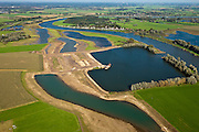 Nederland, Gelderland, Gemeente Olst, 03-10-2010; Welsumer waarden, met nieuwe geul in de uiterwaarden. De gegraven nevengeul gaat meestromen bij hoge waterstanden..New channel in the floodplain. The dug ged secondary channel will flow at high water levels..luchtfoto (toeslag), aerial photo (additional fee required).foto/photo Siebe Swart
