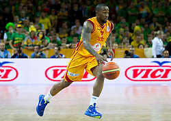 Bo McCalebb of Macedonia during basketball game between National basketball teams of F.Y.R. of Macedonia and Lithuania at Quarterfinals of FIBA Europe Eurobasket Lithuania 2011, on September 14, 2011, in Arena Zalgirio, Kaunas, Lithuania. Macedonia defeated Lithuania 67-65. (Photo by Vid Ponikvar / Sportida)