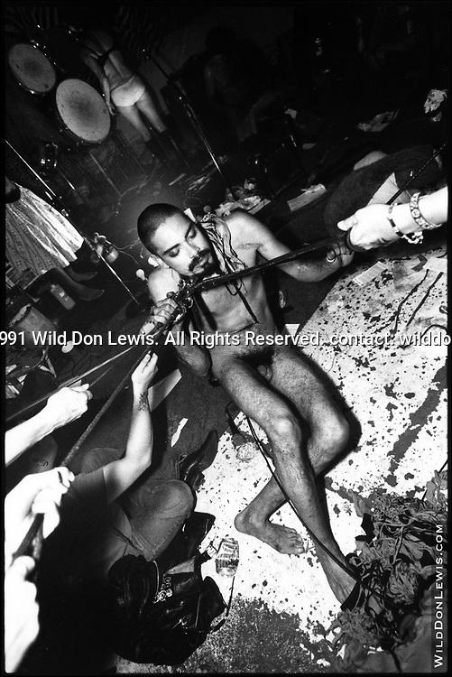 Mykel Diaz of Seemen at Big Bang 1, Los Angeles, CA, Oct. 18, 1991.