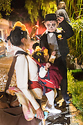 Young children dressed in skeleton costumes during the Day of the Dead festival November 1, 2016 in San Miguel de Allende, Guanajuato, Mexico. The week-long celebration is a time when Mexicans welcome the dead back to earth for a visit and celebrate life.