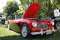 2018 Champagne British Car Festival held on Clover Lawn at David Davis Mansion in Bloomington IL<br /> <br /> 1958 Austin Healey