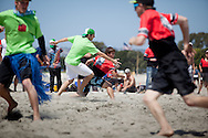 The annual One Love One Beach ultimate frisbee tournament takes place in Mission Bay, San Diego, CA April 10, 2011.