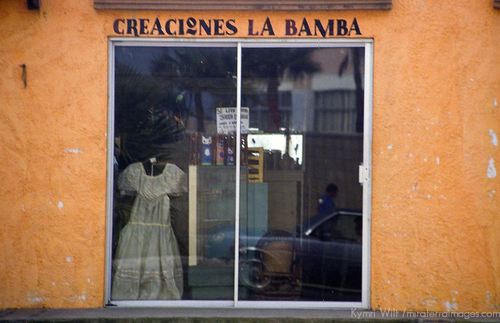 "North America, Mexico, Baja California, Ensenada. A storefront ""Creaciones La Bamba"" near Ensenada."