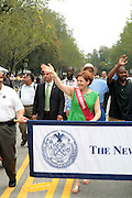 September 3, 2012- Brooklyn, New York: New York City Council Speaker Christine Quinn attends the 45th Annual West Indian Day Labor Day Celebration held on September 3, 2012 along Brooklyn's famed Eastern Parkway. It's one of New York City's most popular parades, a cultural festival that celebrates West Indian history, culture, music and food. Attended by as many as two million people. (Photo by Terrence Jennings)