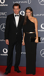CLIVE OWEN AND THANDIE NEWTON arrives at the Laureus Sport Awards held at the Queen Elizabeth II Centre, London, Monday February 6, 2012. Photo By i-Images