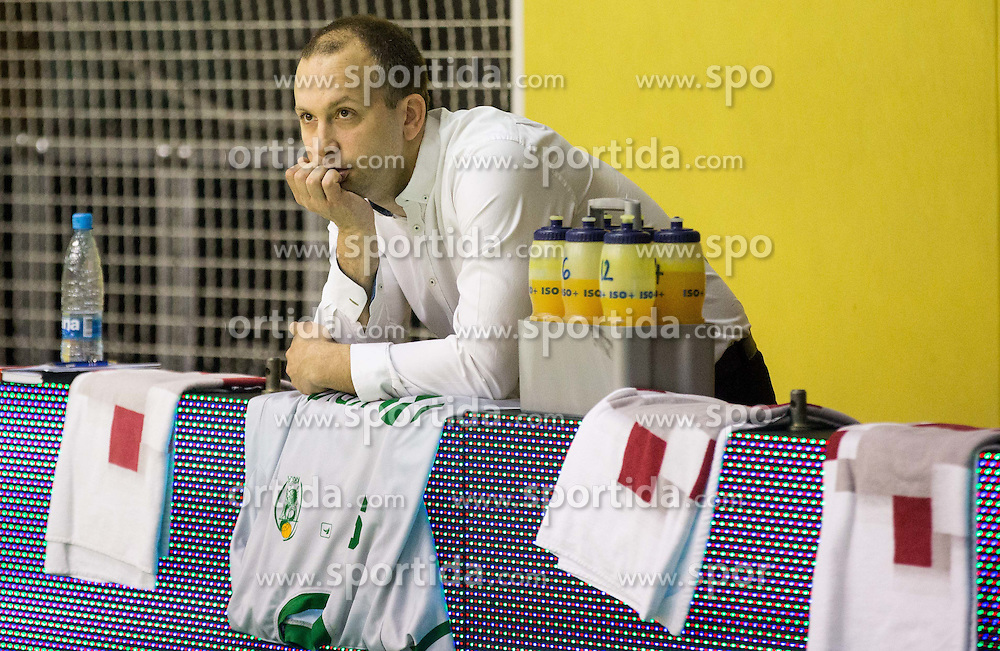Vladimir Anzulovic, head coach of Krka during basketball match between KK Krka and KK Union Olimpija Ljubljana in 5th Round of Nova KBM Champions League 2015/16, on April 13, 2016 in Sports hall Leon Stukel, Novo mesto, Slovenia. Photo by Vid Ponikvar / Sportida