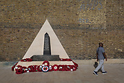 The war memorial to those who lost their lives furing WW2 from African and Carribean countries, alongside those from the Commonwealth in Windrush Square, Brixton, on 3rd July 2017, in London, England.