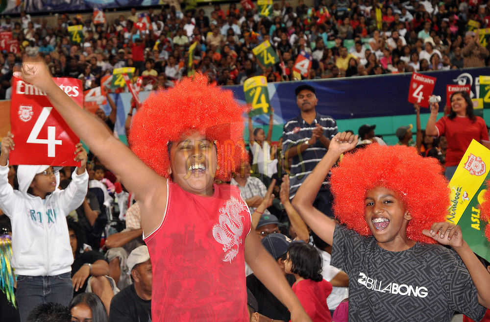 DURBAN, SOUTH AFRICA - 1 Mayl 2009. Spectators during the IPL Season 2 match between Kings X1 Punjab and the Royal Challengers Bangalore held at Sahara Stadium Kingsmead, Durban, South Africa..