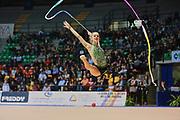 Agnese Duranti atleta della società La Fenice di Spoleto durante la seconda prova del Campionato Italiano di Ginnastica Ritmica.<br /> La gara si è svolta a Desio il 31 ottobre 2015.
