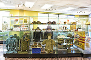 War Artifacts Display Case at the Museum of the Republic of Vietnam in Westminster