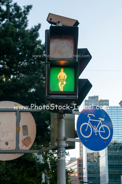 Cycling and Pedestrian lights at zebra crossings in Vienna Austria