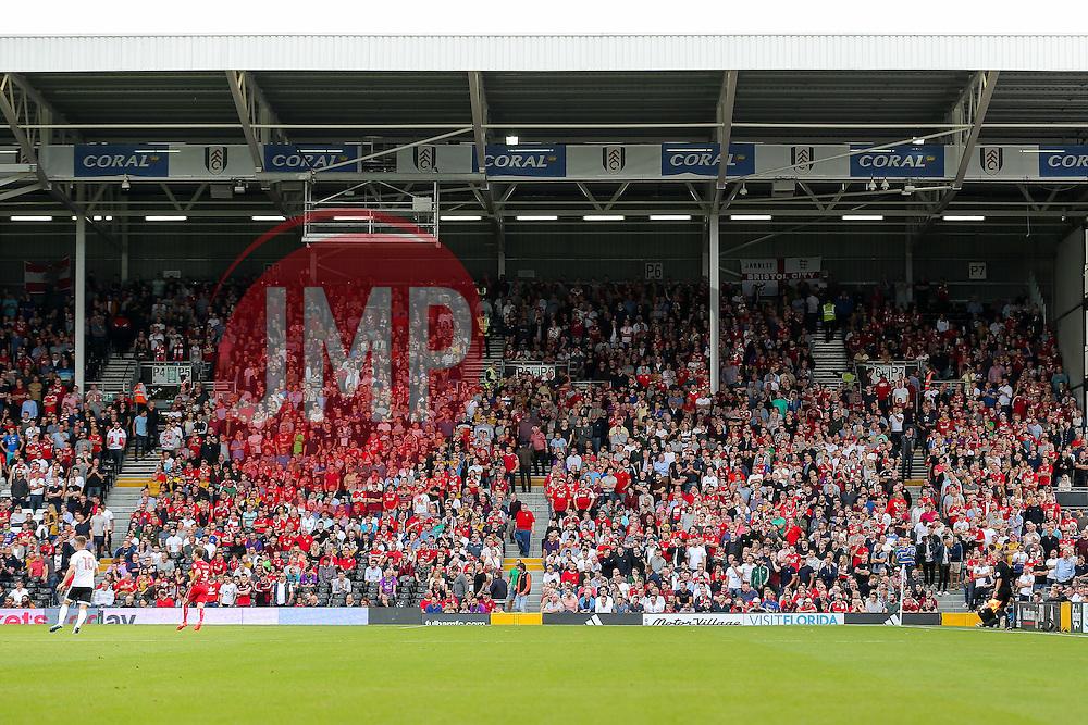 Bristol City fans in the away end - Rogan Thomson/JMP - 24/09/2016 - FOOTBALL - Craven Cottage Stadium - London, England - Fulham v Bristol City - Sky Bet EFL Championship.