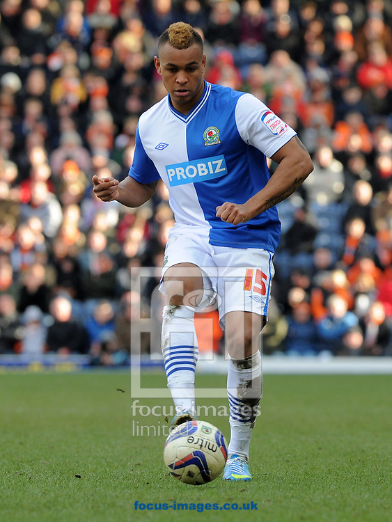 Picture by Alan Wright/Focus Images Ltd 07733 196489.29/03/2013.Joshua King of Blackburn Rovers during the match against Blackpool in the npower Championship league match at Ewood Park, Blackburn.