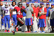 Tampa Bay Buccaneers running back Bobby Rainey (43) during the Buccaneers 27-6 win over the Buffalo Bills at Raymond James Stadium on Dec. 8, 2013   in Tampa, Florida.        ©2013 Scott A. Miller