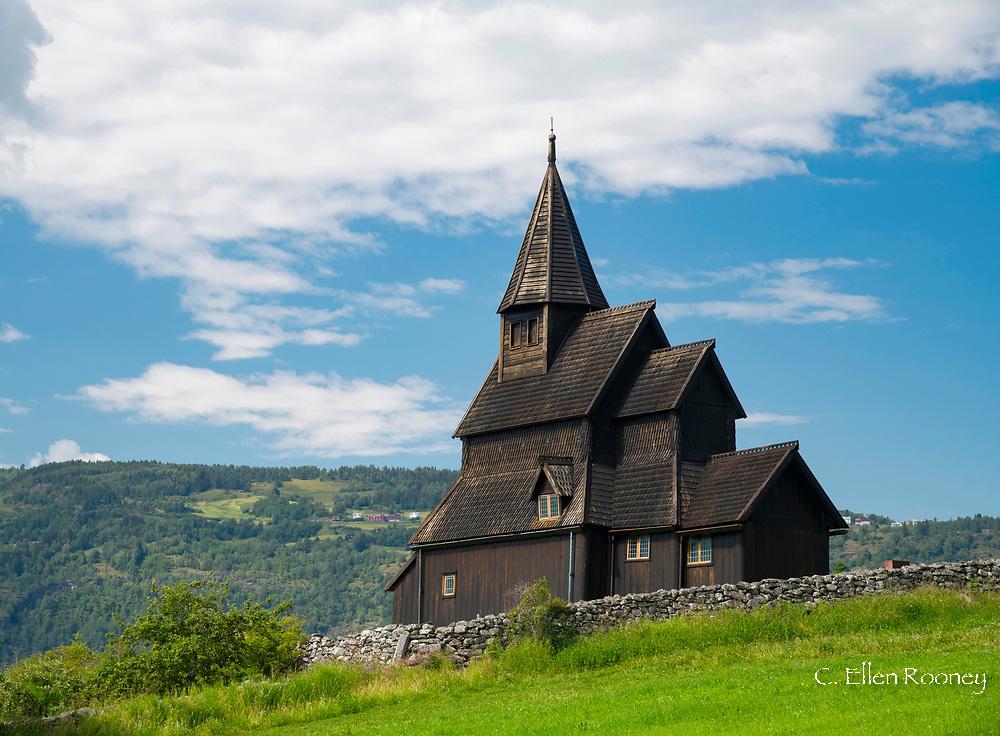 The Urnes Stave Church in Urnes on Sogne Fjord, Vestlandet, Norway, Europe