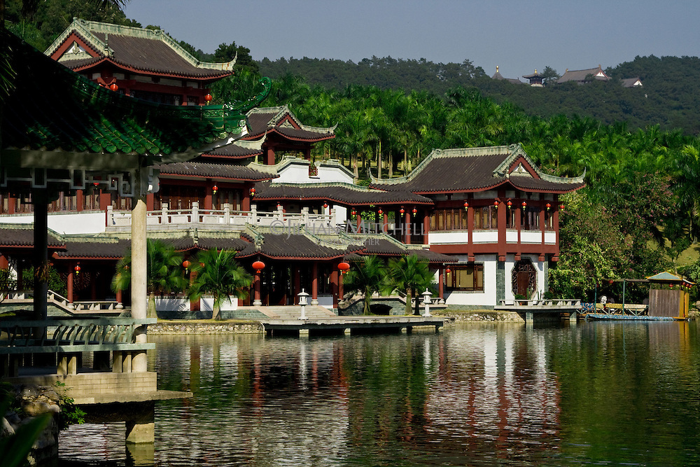 This popular Chinese restaurant sits on the edge of this small lake in Qingxiu Mountain Park surrounded by lush vegetation.