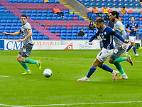 Football - 2019 / 2020 Championship - Cardiff City vs Blackburn Rovers<br /> 				<br /> Joe Bennett of Cardiff City scores his team's second goal<br /> in a match played with no crowd due to Covid 19 coronavirus emergency regulations, at the almost empty Liberty Stadium.<br /> <br /> COLORSPORT/WINSTON BYNORTH