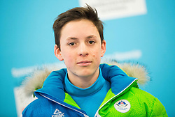Bor Pavlovcic during presentation of Slovenian Young Athletes before departure to EYOF (European Youth Olympic Festival) in Vorarlberg and Liechtenstein, on January 21, 2015 in Bled, Slovenia. Photo by Vid Ponikvar / Sportida