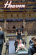 The God of Soho <br /> by Chris Hannan<br /> directed by Raz Shaw<br /> at Shakespeare's Globe Theatre, London, Great Britain <br /> press photocall<br /> 31st August 2011 <br /> <br /> Emma Pierson (as Natty)<br /> Jade Williams<br /> and Company <br /> Photograph by Elliott Franks