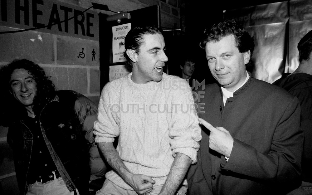 Nathan the Happy Mondays manager and Tony Wilson head of Factory Records, Manchester 1990