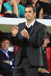 28.09.2011, BayArena, Leverkusen, GER, UEFA CL, Gruppe E, Bayer 04 Leverkusen (GER) vs KRC Genk (BEL), im Bild.Robin Dutt (Trainer Leverkusen)..// during the UEFA CL, group E, Bayer Leverkusen vs KRC Genk  on 2011/09/28, at BayArena, Leverkusen, Germany. EXPA Pictures © 2011, PhotoCredit: EXPA/ nph/  Mueller *** Local Caption ***       ****** out of GER / CRO  / BEL ******