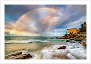 Rainbow over Coogee Surf Lifesaving Club [Coogee, NSW, Australia]<br />
