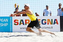 20140605 ITA: EK Beachvolleybal, Cagliari<br /> Alexander Brouwer<br /> ©2014-FotoHoogendoorn.nl / Pim Waslander