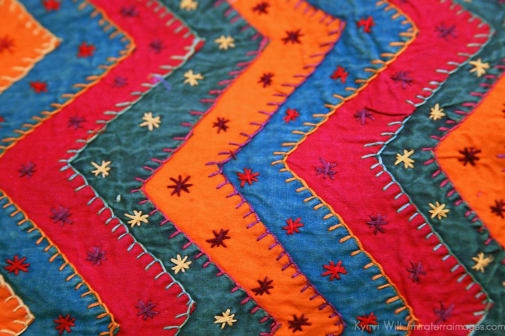 Asia, India. Jaipur. Traditional Indian Textile.