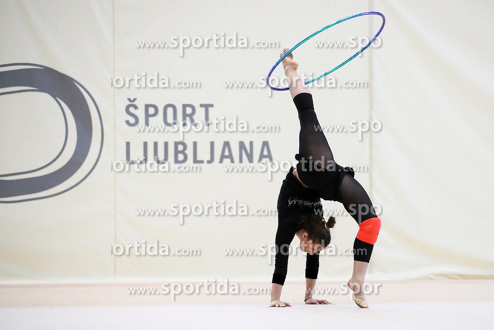 Spela Kratochwill at practice of Slovenian Rhythmic Gymnastics Team before 36th European Rhythmic Gymnastics Championships in Budapest - Hungary, on May 15, 2017 in Gimnasticna dvorana, Ljubljana, Slovenia. Photo by Matic Klansek Velej / Sportida